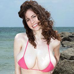 Lillian Faye in a Pink Bikini